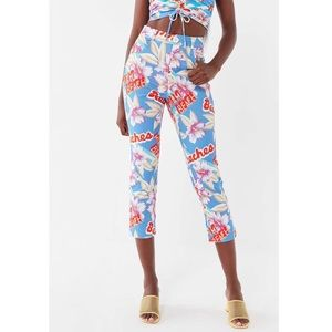 UO Trina Tropical Print High-rise Cropped Pant